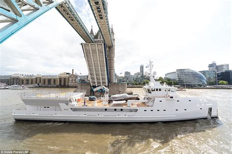 yacht game changer super yacht support vessel floats down the thames daily