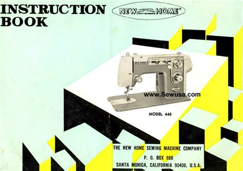new home model 446 sewing machine manual