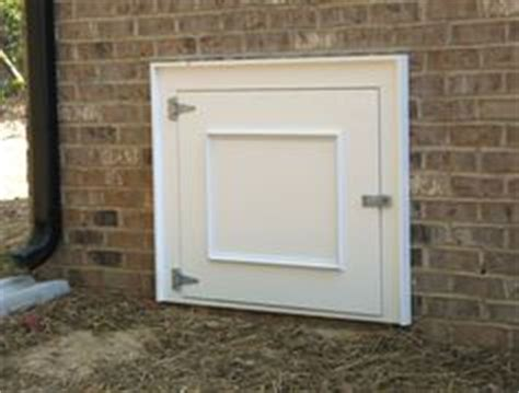 Insulated Crawl Space Door by An Insulated Crawlspace Door With A Lock