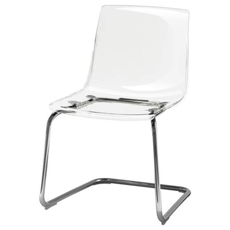 Tobias Chairs by Tobias Chair Transparent Chrome Plated For