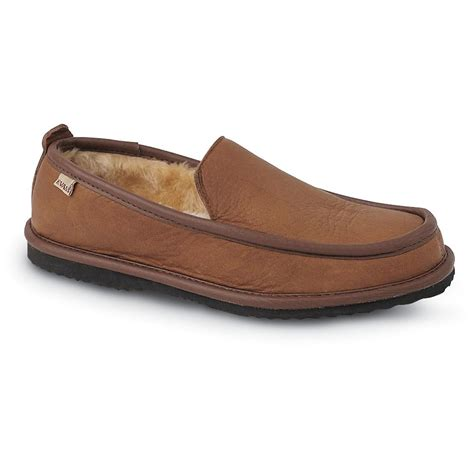lb s slippers s l b 174 imperial deerskin slippers mocha brown