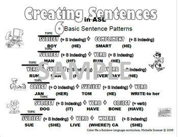 sentence patterns advanced 5 basic sentence patterns in american sign language asl