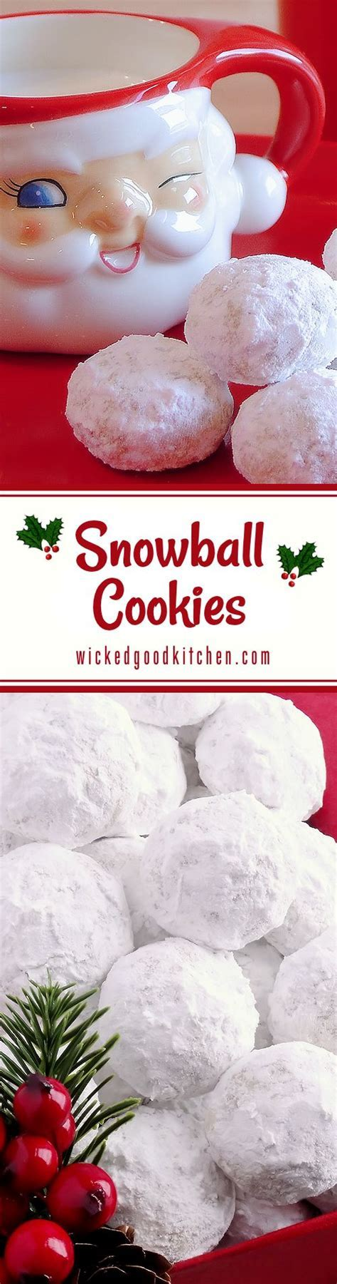 Snowball Christmas Cookies (best ever)   Recipe   Snowball