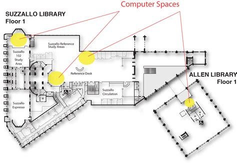 Floor Location by Computer Spaces Map Uw Libraries