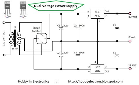 dual power supply circuit diagram hobby in electronics dual voltage power supply 12 volt