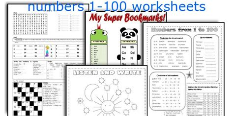 exercises with numbers 1 100 printable english teaching worksheets numbers 1 100