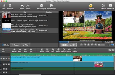 tutorial movie maker mac how to use moviemator free mac video editor