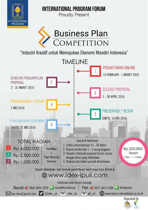 Business Plan Compeitions Mba by Business Plan Competition Jogja Yogyakarta Jogjaland Net