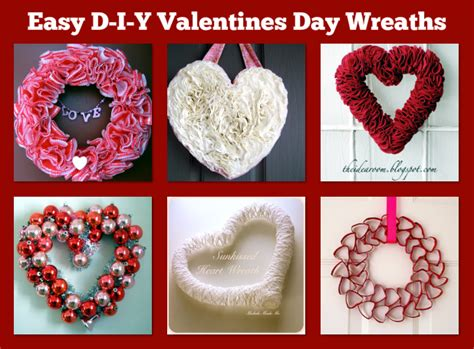 easy    valentines day wreaths  frugal female