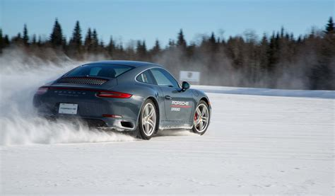 Porsche Winter Driving School by Learning The At Porsche S C4 Winter Driving