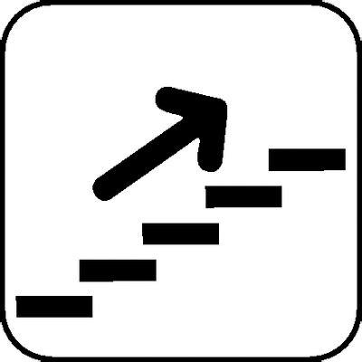 Kennzeichen Aufkleber Bedeutung by Symbol Schilder Quot Treppe Mit Pfeil Aufw 228 Rts Quot Aufkleber