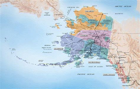 us map alaska state alaska maps and state information