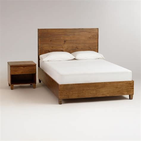 Simple Wooden Bed Frame Reilly Bedroom Collection World Market