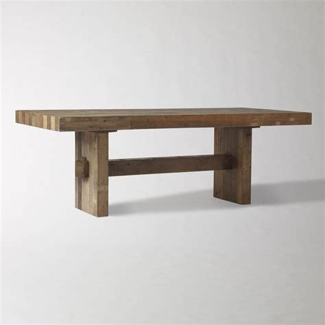 reclaimed wood dining table and bench emmerson reclaimed wood dining table craftsman dining