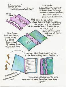 How To Make A Book From Paper - how to make a notebook using leaf paper playful