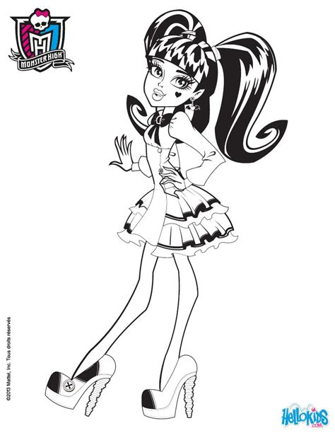 Draculaura S Wedges Coloring Pages Hellokids Com High Draculaura Coloring Pages