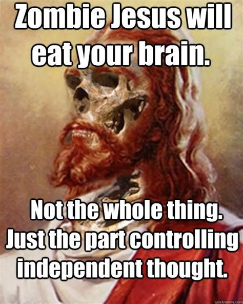 Zombie Jesus Meme - 40 most funniest zombie meme pictures and photos
