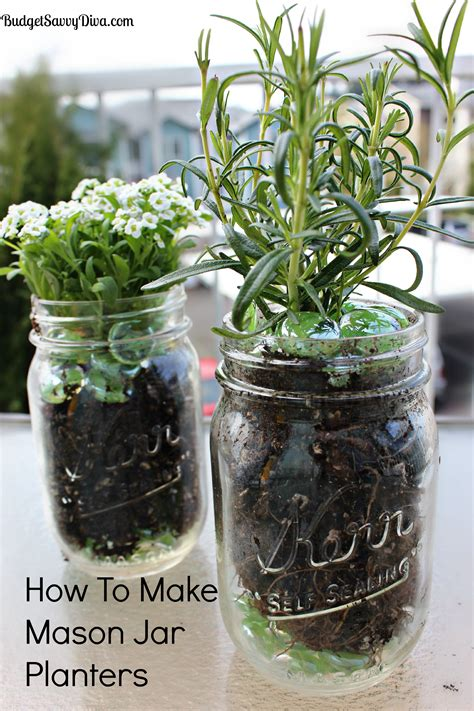 Growing Herbs In Planters by How To Make Jar Planters Budget Savvy