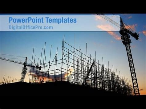 Construction Site Powerpoint Template Backgrounds Civil Engineering Ppt Templates Free