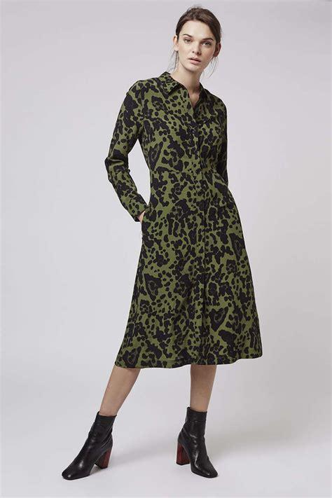 topshop leopard print shirt dress dresscodes