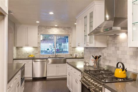 gray shaker kitchen cabinets with engineered white quartz white kitchen shaker cabinets cemento quartz counters