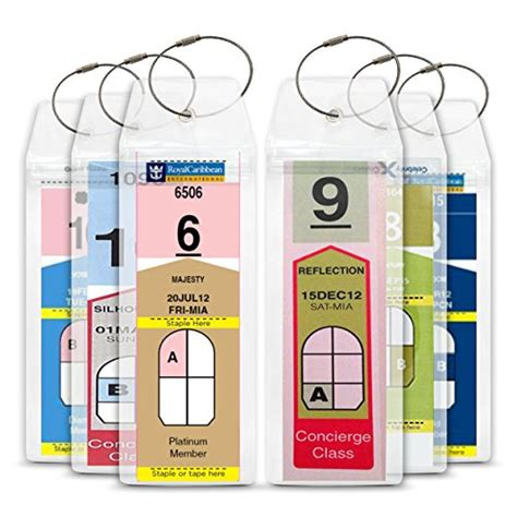 printable luggage tags royal caribbean cruise tag caddy 8 pc slim zip top luggage tag holders for