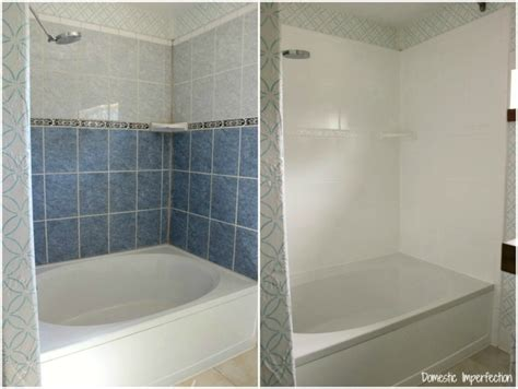 Painting Tiles In Bathroom Before And After how to refinish outdated tile yes i painted my shower