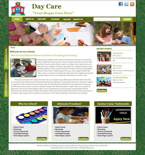 Daycare Template Drupal Free Themes Drupal Custom Theme Template