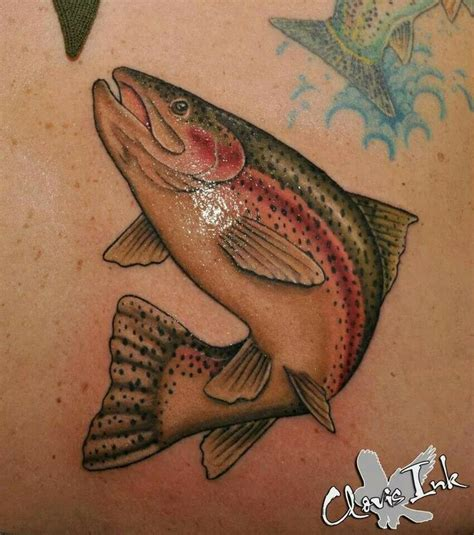 rainbow fish tattoo trout fish rudy acosta rudy rudyacosta