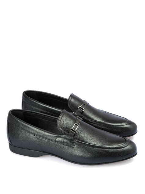 versace leather loafers textured leather loafers by versace collection loafers
