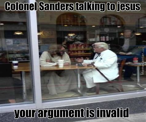 Colonel Sanders Memes - colonel sanders talking to jesus by tryndamere meme center