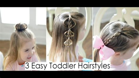 easy hairstyles for thin hair youtube 3 quick and easy toddler hairstyles for fine hair youtube