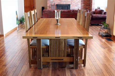 craftsman style dining room table craftsman dining room table solid wood craftsman style