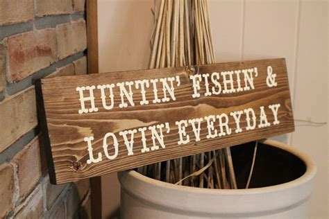hunting and fishing home decor hunting fishing wood sign rustic decor cabin decor