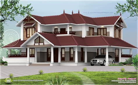 kerala sloped roof home design kerala style sloping roof home exterior house design plans