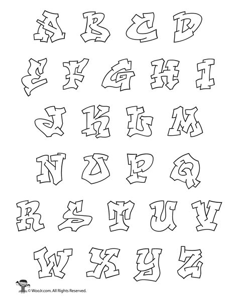 printable alphabet graffiti letters graffiti bubble letters alphabet woo jr kids activities