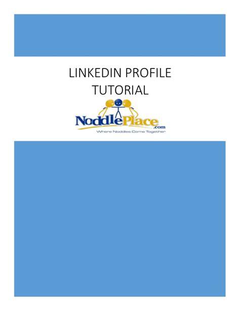 Linkedin Tutorial Powerpoint | linkedin profile tutorial by noddleplace