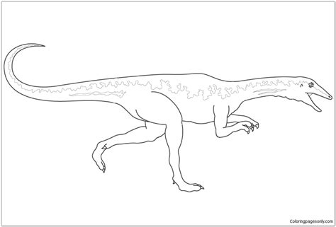 Coloring Page Velociraptor by Dinosaur Velociraptor Coloring Page Free Coloring Pages
