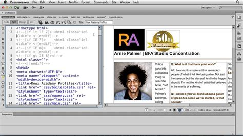 tutorial responsive dreamweaver cs6 lynda video tutorial responsive design with dreamweaver