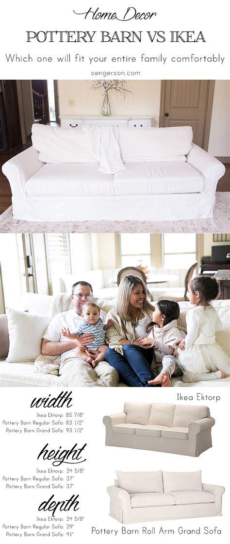 how to choose a sofa bed ikea ektorp versus pottery barn grand sofa