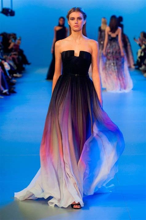 is ombre still in fashion 2014 long ombre dress ellie saab s s 2014 fashion turn to