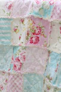 crib rag quilt baby girl crib bedding shabby chic nursery sunshine roses pink blue nursery