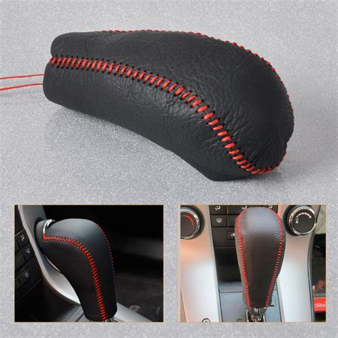 Knob Cover by New Genuine Leather Gear Shift Knob Cover For 2009 2015