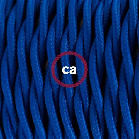 twisted electric cable covered by rayon solid color fabric