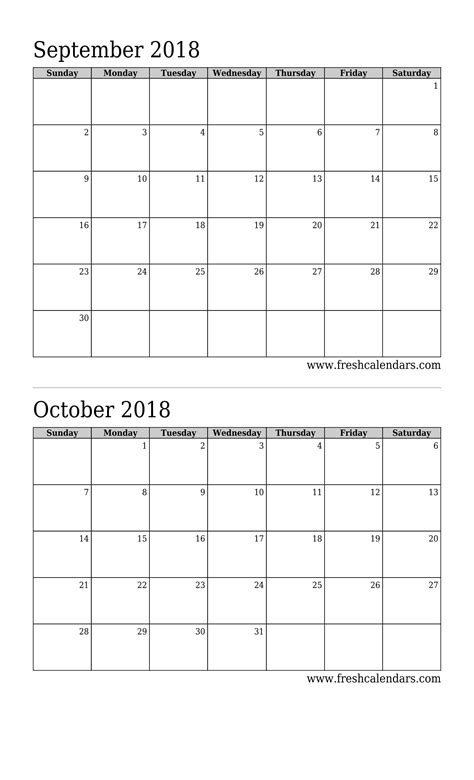 Calendar 2018 Month Per Page Printable Calendar 2 Months Per Page 2018 Tore Trackbox Co