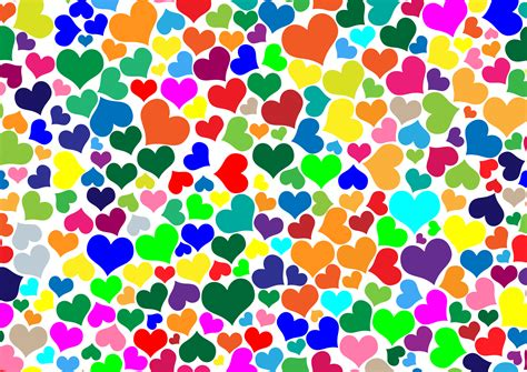 wallpaper of colorful hearts clipart colorful hearts background