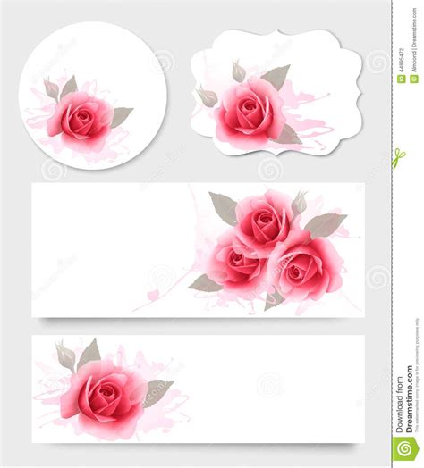 1800flowers Gift Card - set of gift cards and banners with beautiful flowers stock vector image 44895472