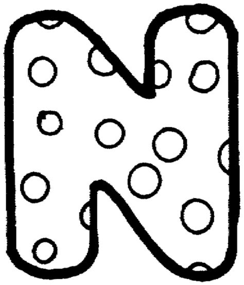 coloring pages polka dot letters bubble n letter n pinterest bubbles