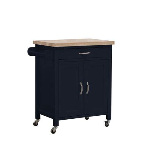 kitchen cart with cabinet sunjoy alberta navy with wood top kitchen cart with 2 cabinets and 1 drawer 120306005n