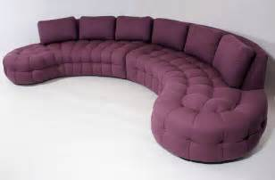 tufted sectionals sofas 1970s curved tufted sofa sectional at 1stdibs